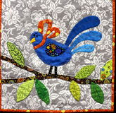 Quilted Bluebird Royalty Free Stock Image