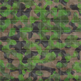 Quilted Camouflage Fabric. Quilted Woodland Camouflage Seamless Texture Tile vector illustration