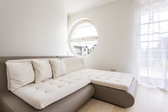 Quilted corner sofa Royalty Free Stock Photos
