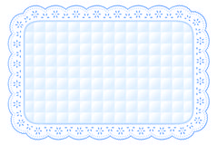 Quilted Eyelet Lace Place Mat royalty free illustration
