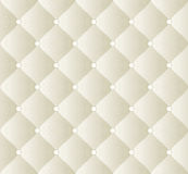Quilted fabric. Creamy background with ornaments -  illustration Royalty Free Stock Photography