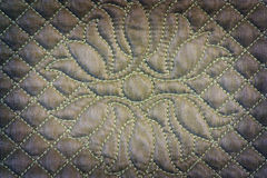 Quilted fabric Stock Photo