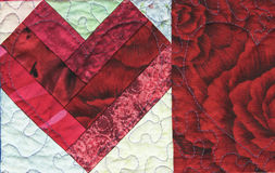 Quilted Heart stock images
