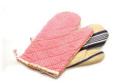 Quilted heat protective mitten Stock Photography