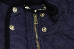 Quilted jacket details Royalty Free Stock Photo
