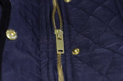 Quilted jacket details Stock Photo
