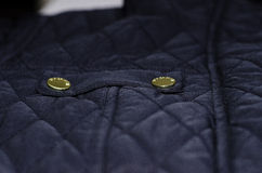 Quilted jacket details Stock Photos