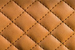 Quilted leather Royalty Free Stock Photography