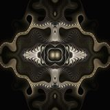 Quilted Maltese cross. Abstract fractal image resembling a quilted Maltese cross Royalty Free Stock Photos