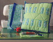 Quilted patchwork stages Stock Images