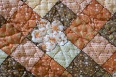 Quilted Pattern. A photo of a quilted pattern Stock Photography