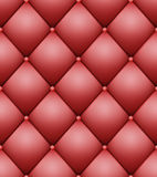 Quilted Pattern Vector. Vintage Buttoned Leather Stylish Upholstery Stock Images