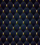 Quilted seamless pattern. Black color Royalty Free Stock Image