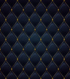 Quilted seamless pattern. Black color. Stock Photo