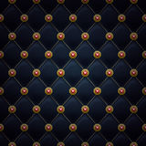 Quilted seamless pattern. Black color Stock Photos