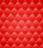 Quilted seamless pattern. Red color. Stock Photos