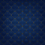 Quilted simple arabesque seamless pattern. Dark Royalty Free Stock Images