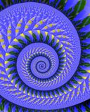 Quilted spiral. Abstract fractal image resembling a quilt wound in a spiral Stock Images