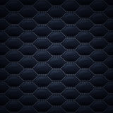 Quilted stitched background pattern. Black color. Quilted carbon stitched background pattern. Black color. Upholstery vector illustration Stock Images
