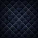 Quilted stitched background pattern. Black color. Quilted square stitched background pattern. Black color. Upholstery vector illustration Royalty Free Stock Photos