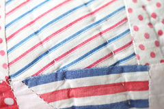 Quilted stripes and polka dots Stock Photography