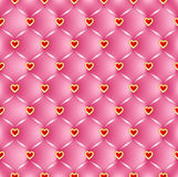 Quilted vector pattern with hearts Royalty Free Stock Images