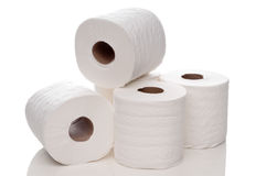 Quilted white toilet paper Royalty Free Stock Photo