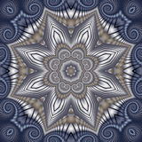 Quilted Winter Star Stock Image