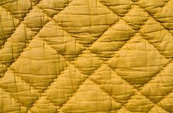 Quilting. Square in shades of yellow colors Stock Photo