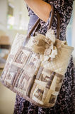 Quilting Bag In the hands of women Royalty Free Stock Image
