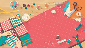 Quilting banner Royalty Free Stock Images