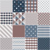 Quilting design background. Seamless patchwork pattern. Royalty Free Stock Photography