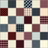 Quilting design in chess order Royalty Free Stock Images