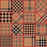 Quilting design of classic tartan. Seamless background pattern. Will tile endlessly Royalty Free Stock Photo