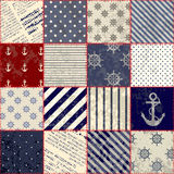 Quilting design in nautical style. Seamless background pattern. Will tile endlessly Stock Images