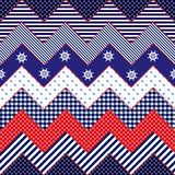 Quilting design in nautical style Royalty Free Stock Images