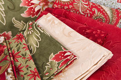 Quilting fabrics Stock Photography