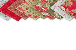 Quilting fabrics in different colors Stock Photos