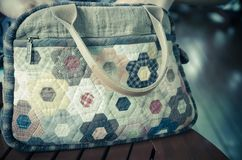 Quilting Hand Bag Royalty Free Stock Photos