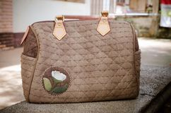 Quilting Hand Bag. The Quilting Hand Bag,Handmade Hand Bag Royalty Free Stock Images