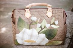 Quilting Hand Bag. The Quilting Hand Bag,Handmade Hand Bag Royalty Free Stock Photo