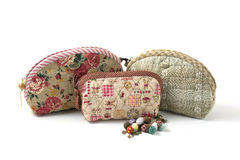 The Quilting Hand Bag. Handmade Hand Bag Royalty Free Stock Photography