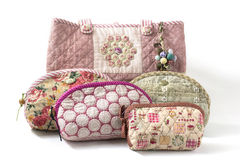 The Quilting Hand Bag Royalty Free Stock Images