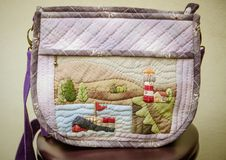 Quilting Hand Bag,Handmade Hand Bag Royalty Free Stock Images