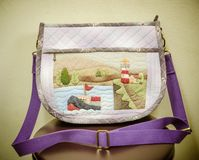 Quilting Hand Bag,Handmade Hand Bag Royalty Free Stock Photos