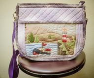Quilting Hand Bag,Handmade Hand Bag Royalty Free Stock Image