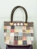 Quilting Hand Bag,Handmade Hand Bag Royalty Free Stock Image