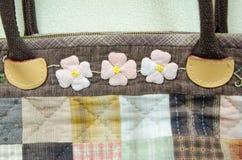 Quilting Hand Bag,Handmade Hand Bag Royalty Free Stock Photos