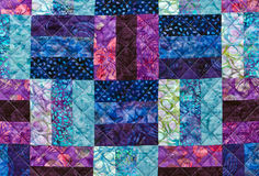 Quilting pattern. Of colorful fabrics Stock Image