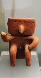 Quimbaya statuette. Quimbaya archeology, precolumbian figures, quimbayas sculptures, colombian archeology, colombian culture, tribe kimbaya culture, indigenous Royalty Free Stock Photo